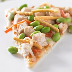 Edamame Asian-Style Pizza Allrecipes.com so want to try this!