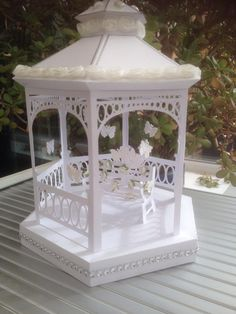 wedding gazebo made from cutting file from http://monicascreativeroom.se