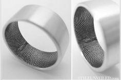 Customizable Fingerprint Wedding Ring by Fabuluster on Etsy
