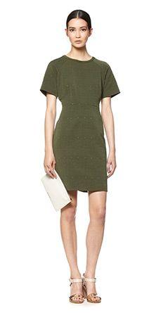 Tia Jacquard Dress Longer Lnth