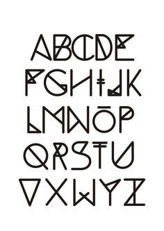 geometric font for word tattoo | Tattoo Ideas | Pinterest ...