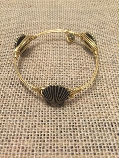Bourbon and Boweties Gold Sea Shell Standard Wrist