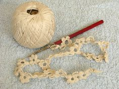 Crocheted Flower Edging