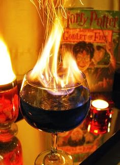 Harry Goblet of Fire Cocktail. I am so doing this!