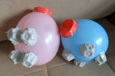 Paper Mache Crafts For Kids, Paper Mache Projects, Pig Crafts, Paper Crafting, Plate Crafts, Paper Mache Balloon, Paper Mache Clay, Paper Mache Sculpture, How To Paper Mache