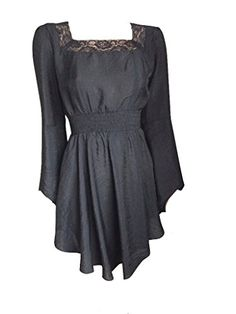 Black Peasant Gypsy Romantic Asymmetric Short Summer Dress (10) Steampunk Goths http://www.amazon.co.uk/dp/B00X7RUU1C/ref=cm_sw_r_pi_dp_8gzAvb1TABQ15