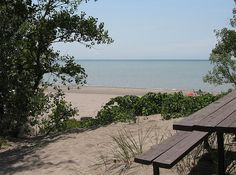 Always fun to have a site with a view of the beach! looking forward to camping! Places To Travel, Places To Visit, Ontario Parks, Norfolk County, Vacation Memories, Lake Erie, Camping Ideas, Places Ive Been, Michigan