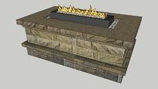 3D Model of Nottingham Fire Pit (Wood/Gas)