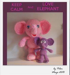 #amigurumi elefante con patrón Amigurumi To Go