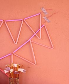 Neon Straw Bunting...