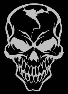 This is a recreation of a skull that was on one of my old shirts. Now the skull logo for my buddy& MMA team. Skull Stencil, Stencil Art, Stencils, Stencil Wood, Stencil Templates, Tattoo Drawings, Art Drawings, Totenkopf Tattoos, Skull Artwork