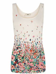 3c514c623c3205 Poppy borders print vest £16 Oasis Uk