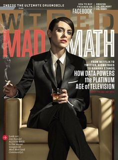 Alison Brie of Mad Men and Community appears on the cover of Wired magazine in drag. The photos make me think she should just be Don Draper. Alison Brie, The Five Year Engagement, Magazine Cover Design, Magazine Covers, Wire Cover, Don Draper, Drag King, Celebs, Celebrities