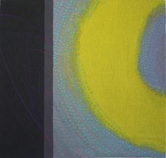 Jo Barker, Lime Glow, 78 x 73 cm, wool, cotton, linen & embroidery threads