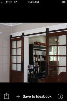 Barn Doors W/ Glass