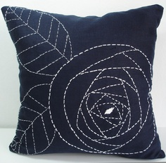 Hand Embroidered - Linen Pillow Cover Etsy.