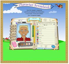 Free Technology for Teachers: Character Scrapbook - A Tool for Student Reflections on Stories a great tool!