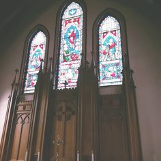 Stained glass windows in historic Trinity Anglican Church in Digby, NS above alter in memory of Viets family, first Rector and Loyalist Roger Viets and sons Roger Moore Viets and George Viets Anglican Church, Roger Moore, Nova Scotia, Stained Glass Windows, Sons, Empire, Memories, Instagram, Memoirs