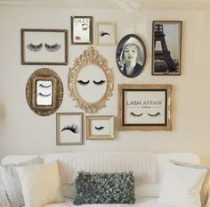 Maybe your art can be some of the cute quotes framed in different frames. Also, you can frame your prices.