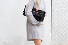 outfit • 70 Aritzia Six Eleven Clutch and Wilfred knit #FallForUs