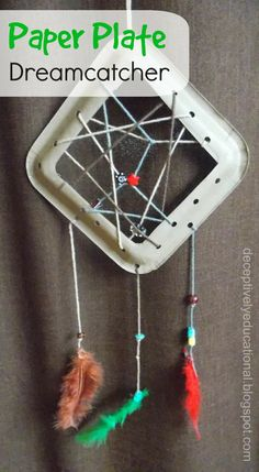 Relentlessly Fun, Deceptively Educational: Paper Plate Dreamcatcher