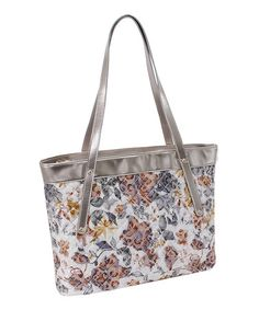 Another great find on #zulily! Brown Floral Quilted Fiona Tote by Parinda #zulilyfinds