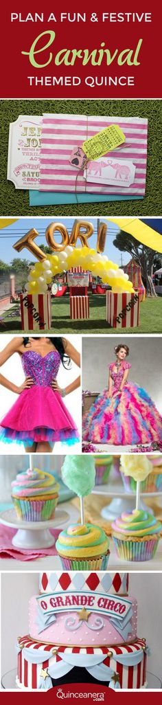 Take a look at the ideas below to plan a festive carnival themed Quince, or better said, welcome to your very own cirque du soleil! - See more at: http://www.quinceanera.com/decorations-themes/plan-fun-festive-carnival-themed-quince/#sthash.6m8J2Ns8.dpuf