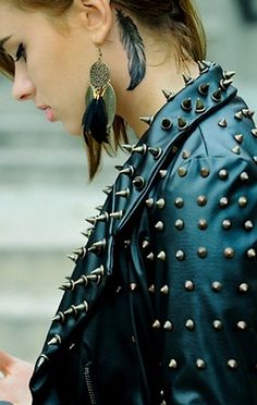 Spikes #rocknroll #style #cool #beauty #cute