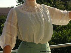 edwardian 1900s lace muslin lingerie dress