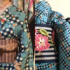 """""""【ラフォーレ】 左  人間用 右 人形用  デジタルプリントだからできる最高の贅沢。  ラフォーレでごらんいただけます。  ラフォーレ原宿 2F リミテッドショップ  2015.07.01-22  kawaii Musee by yamamotoyumi  #kimono #キモノ #着物 #きもの…"""""""