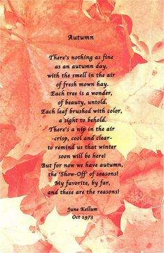 Just Poems from June: September 2006 October Poem, September Quotes, June, Happy New Month Quotes, Autumn Cozy, Autumn Fall, Autumn Leaves, Pomes, Autumn Scenes