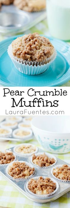 Crumbly and delicious, these moist Pear Crumble Muffins are definitely a must…