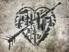 We love guns. Love Does Not Envy, Happy V Day, Love Gun, Trigger Happy Havoc, Crossbow, Guns And Ammo, Cool Eyes, Happy Valentines Day, Firearms