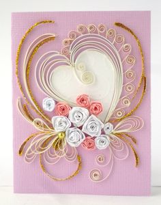Greeting card with tiny roses
