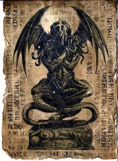 Cthulhu Idol - Necronomicon Page by WendigoMoon @ DeviantArt