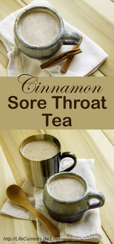 Easy to Make Cinnamon Sore Throat Tea when you're sick with a cold or the flu