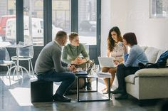 People Having Business Meeting In Modern Open Space by Aleksandra Jankovic - Teamwork, Business - Stocksy United Business Portrait, Corporate Portrait, Work Meeting, Business Meeting, Business Profile, Diet Pills That Work, Photo Grouping, People Photography, Online Work