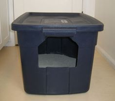Make your own litter box. Do you have a big cat? Try this DIY litter box!