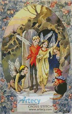 4950634c77e Fairies - Cross Stitch Chart   Artecy Cross Stitch Shop