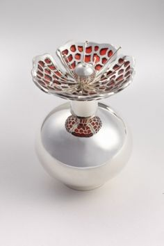 gorgeous plique a jour perfume bottle by Jean Wilkinson.