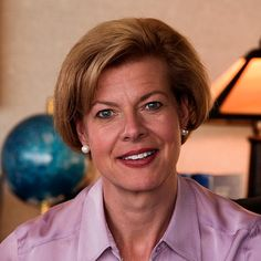 Tammy Baldwin - USA - 2012: Baldwin is the junior United States Senator from Wisconsin and a member of the Democratic Party. She is the first woman elected to represent Wisconsin in the Senate, and the first openly gay U.S. Senator in history. #womens #history #lgbt #women in #politics