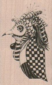 New to pinkflamingo61 on Etsy: mounted rubber  stamp  Whimsical Bird In Plague Maskoriginal design mary vogel lozinak 19160 (9.25 USD)