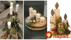 Nemusí to byť len klasický veniec z čečiny: 24 úchvatných dekorácií na adventný stôl, ktoré vám určite tak skoro nezvädnú! Centre Pieces, Advent, Table Decorations, Winter, Christmas, Crafts, Home Decor, Winter Time, Xmas