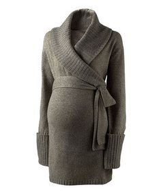 Take a look at this Charcoal Wool Maternity Shawl Collar Cardigan by Isabella Oliver on #zulily today!