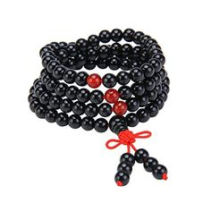 Meibai Natural Gemstone 108 Mala Beads Elastic Wrap Bracelet Buddhist Prayer Spirituality Necklace 6mm Onyx * BEST VALUE BUY on Amazon #BuddhistPrayer Buddhist Prayer, Special Deals, Natural Gemstones, Fashion Brands, Prayers, Spirituality, Beads, Amazon, Bracelets