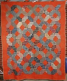 rust ocean waves quilt. See products made with this quilt design at http://www.quiltmyphone.com