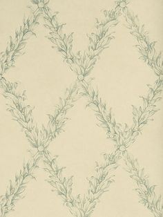 Stroheim+Beauclaire+Trellis+Teal+6332804+Charles+Faudree+Wallcovering+Collection+-+