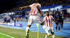 #Ideye #Brown celebrates his amazing goal! #UCL #Dinamo - #Olympiakos 0-1