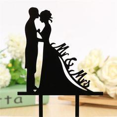 Wedding Cake Topper/ Anniversary Cake Stand (Bride & Groom)