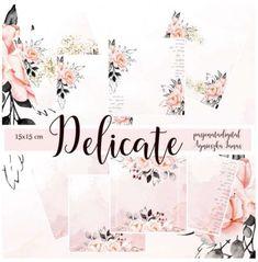 Delicate... zestaw papierów w kolorystyce pastelowego różu. Delicate, Digital, Paper
